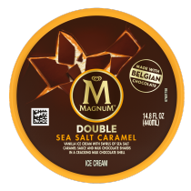 Double Sea Salt Caramel Ice Cream Tub Back of Pack