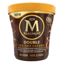 Double Sea Salt Caramel Ice Cream Tub Front of Pack
