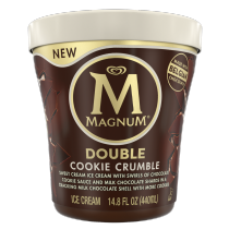 Double Cookie Crumble Ice Cream Tub Front of Pack