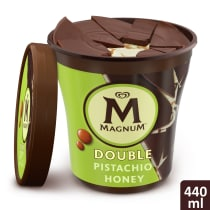 Double Pistachio Honey Ice Cream Tub Lid-Off
