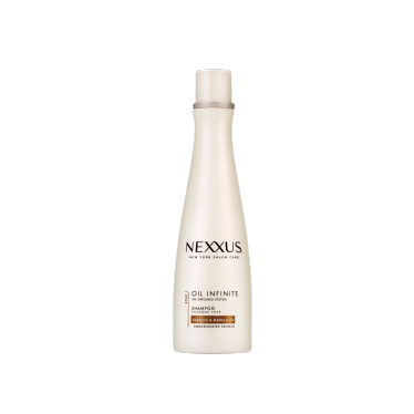 Front of shampoo pack Nexxus shampoo oil infinite 400ml