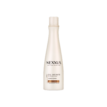 Front of conditioner pack Nexxus acondicionador oil infinite 400ml
