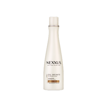 Front of shampoo pack Nexxus Shampoo Oil Infinite 250ml