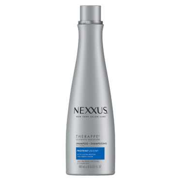 Front of shampoo pack Nexxus therappe shampoo for normal to dry hair 400ml