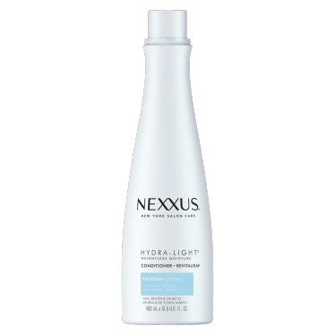 Front of conditioner pack Nexxus hydra-light weightless moisture conditioner for normal to oily hair 400ml
