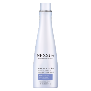 Front of shampoo pack Nexxus shampoo emergencée 400ml