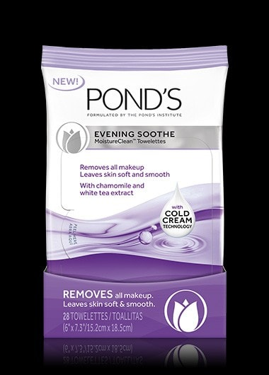 Toallitas desmaquillantes POND'S® Evening Soothe