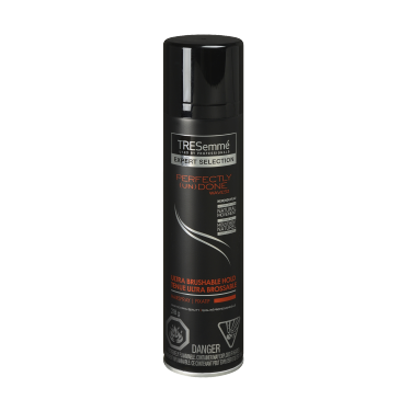 A 218 g can of Perfectly (un)Done Ultra Brushable Hold Hairspray front of pack image