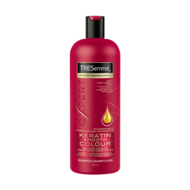 A 739 ml bottle of Keratin Smooth Colour Shampoo front of pack image
