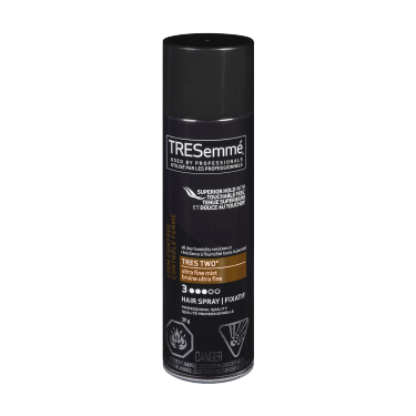 A 311 g can of Tres Two Ultra Fine Mist Hair Spray front of pack image