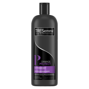 A 28oz bottle of TRESemmé Damage Protect Shampoo front of pack image