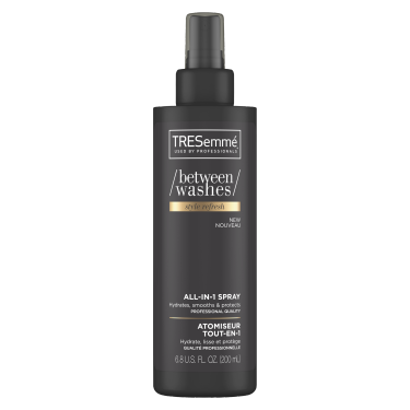 A 200 ml bottle of Between Washes Style Refresh All-In-1 Spray front of pack image