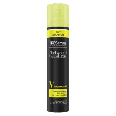A 7.3oz can of TRESemmé Between Washes Volumizing Dry Shampoo front of pack image