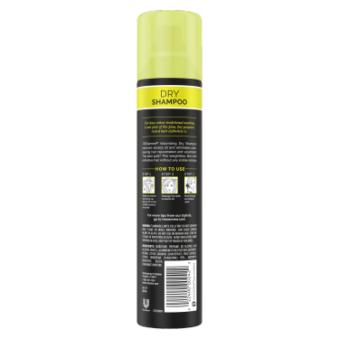 A 7.3oz can of TRESemmé Between Washes Volumizing Dry Shampoo back of pack image