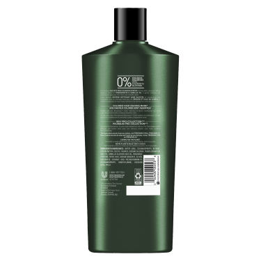 A 22oz bottle of TRESemmé Botanique Color Vibrance and Shine Sulfate Free Shampoo back of pack image