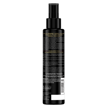 A 6.1oz bottle of TRESemmé Thermal Creations Flat Iron Spray back of pack image