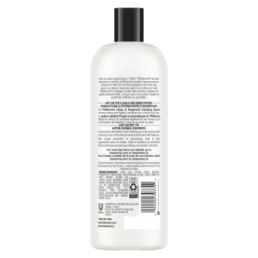 A 828 ml bottle of Clean and Replenish Conditioner back of pack image