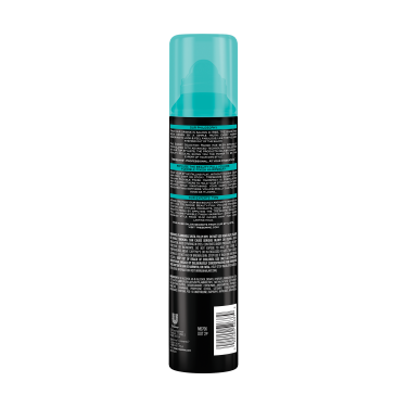 imagen al reverso del paquete - una lata de 7.54 oz TRESemmé Beauty-Full Volume Flexible Finish Hair Spray