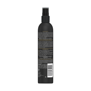 A 10oz can of TRESemmé TRES TWO Ultra Fine Mist Non Aerosol Hair Spray back of pack image