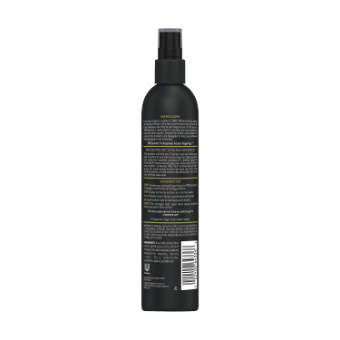 A 10oz can of TRESemmé TRES TWO Extra Hold Non Aerosol Hair Spray back of pack image