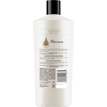A 22oz bottle of Keratin Smooth Color back of pack image