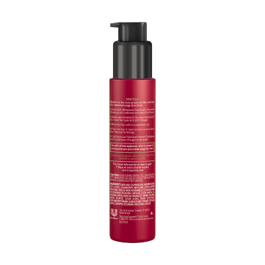 imagen al reverso del paquete - un envase de 3oz TRESemmé Keratin 7 Day Smooth Heat Activated Treatment