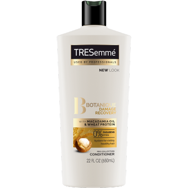 A 22oz bottle of TRESemmé Botanique Damage Recovery Conditioner front of pack image